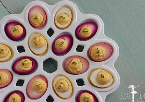 Pickled Deviled Eggs- by Sugar Plum Foodie